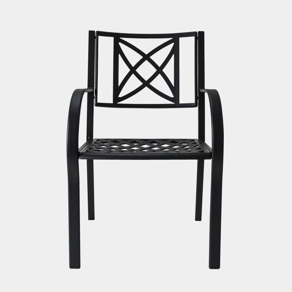 Paracelsus Outdoor Patio Aluminum Chairs (Set of 2), Vintage Black
