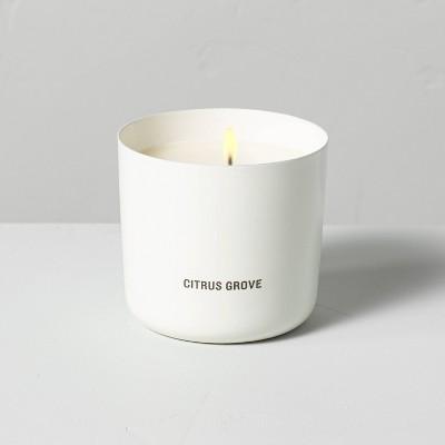 9oz Citrus Grove Powder Coated Metal Seasonal Candle - Hearth & Hand™ with Magnolia