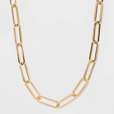 SUGARFIX by BaubleBar Link Chain Statement Necklace - Gold