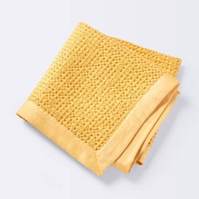 Waffle Blanket - Cloud Island™ Mustard Yellow
