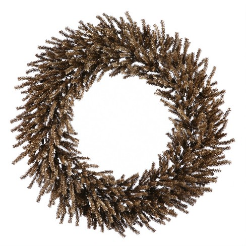 """Vickerman 30"""" Unlit Sparkling Chocolate Brown Artificial Christmas Wreath - image 1 of 1"""