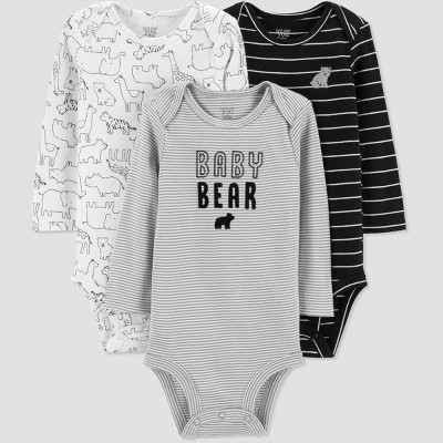 Baby Boys' 3pk Bear Bodysuit - Just One You® made by carter's Gray 3M