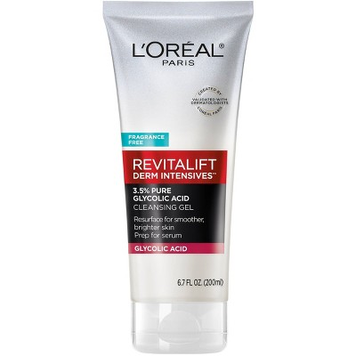 L'Oreal Paris Revitalift Derm Intensives with 3.5% Glycolic Acid Cleanser - 6.7 fl oz