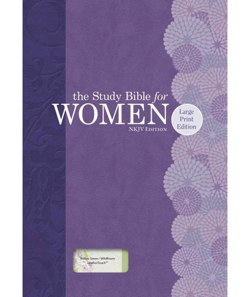 Study Bible for Women : New King James Version, Willow Green & Wildflower Leathertouch (Indexed, Large - image 1 of 1