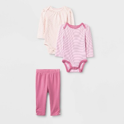 Baby Boys' 3pc Boutique Layette Set - Cloud Island™ Pink 6-9M