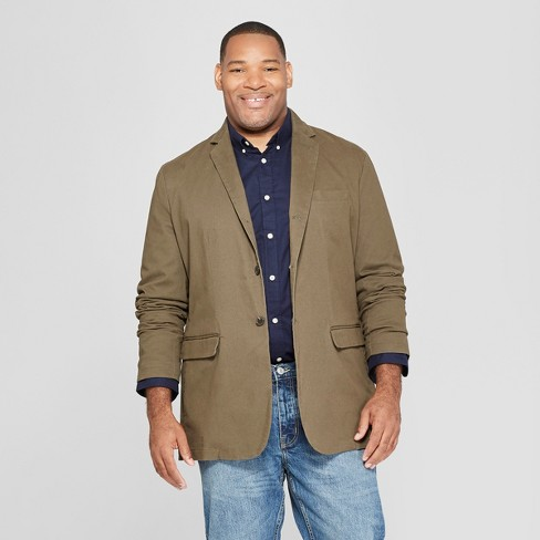 Men's Big & Tall Washed Twill Blazer - Goodfellow & Co™ - image 1 of 3