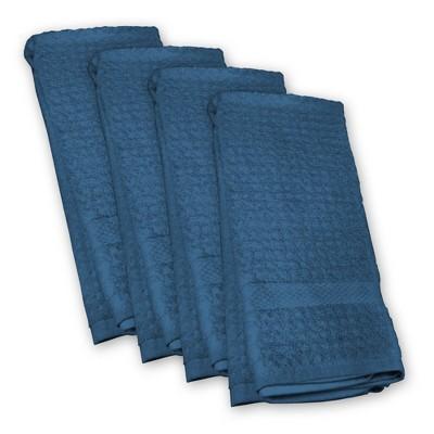 4pk Blue Kitchen Towels Blue - Design Imports