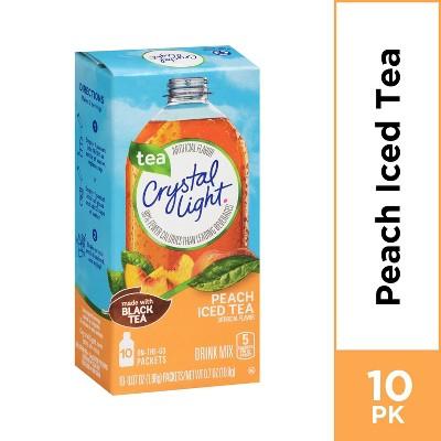 Crystal Light On The Go Peach Iced Tea Drink Mix - 10pk/0.7oz