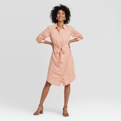 Women's Long Sleeve Collared Shirtdress - A New Day™