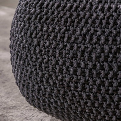 Hollis Knitted Cotton Square Pouf - Christopher Knight Home : Target