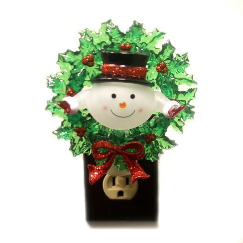 Christmas Snowman Wreath Night Light Target