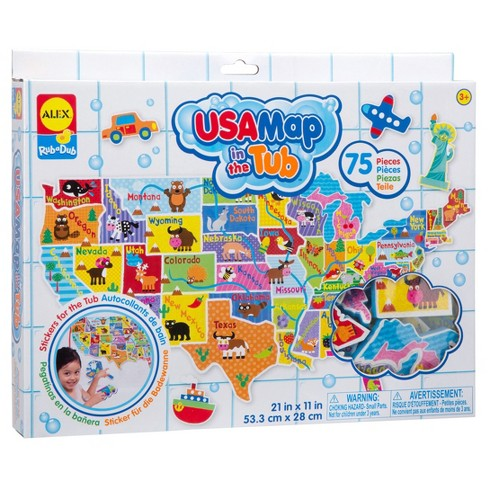 ALEX Toys Rub a Dub USA Map in the Tub - image 1 of 5