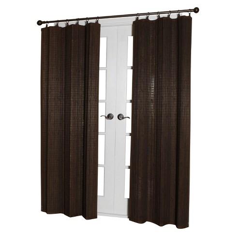 84 X40 Curtain Panel Bamboo Ring Top