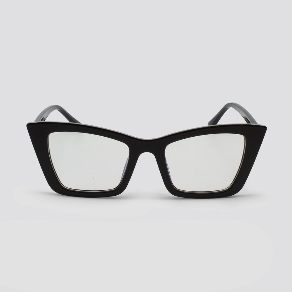 Women 39 S Blue Light Filtering Cateye Plastic Sunglasses Wild Fable 8482 Black