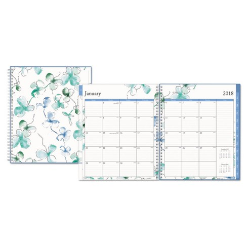 2018 Blue Sky Lindley 8 x 10 Planner - White/Blue - image 1 of 2