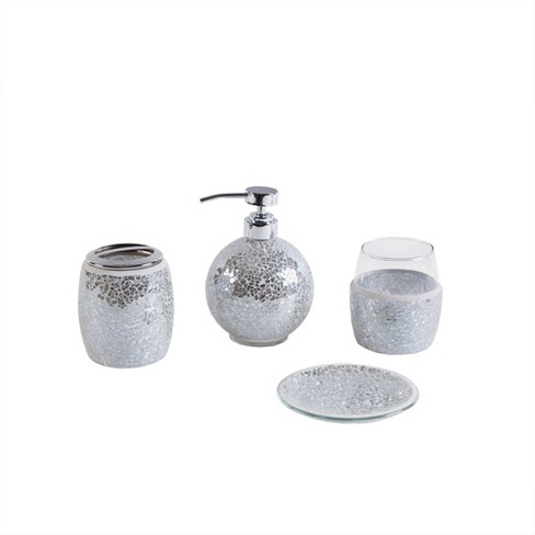 Bath Coordinate Set Silver - image 1 of 4