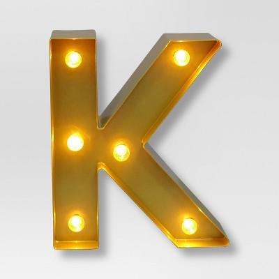 Marquee Letter Light Brass K - Threshold™
