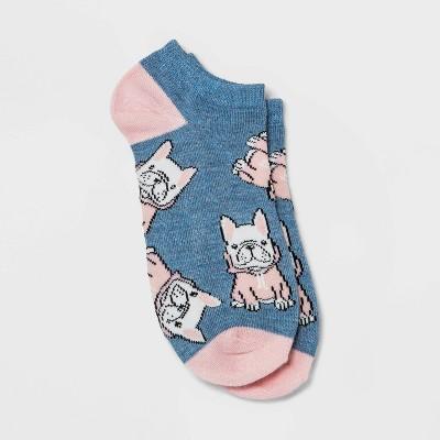 Women's Cozy Pups Low Cut Socks - Xhilaration™ Denim Heather 4-10