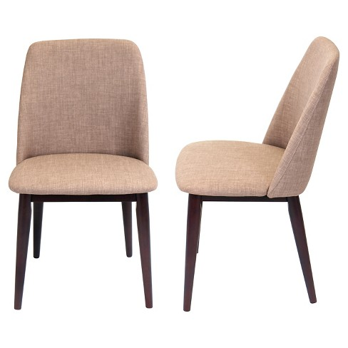 Tintori Mid Century Modern Dining Chairs Wood Espresso Set Of 2 Lumisource