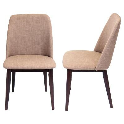 Tintori Mid Century Modern Dining Chairs Wood/Espresso (Set Of 2)    LumiSource