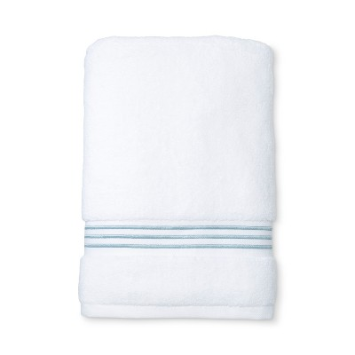 Spa Stripe Accent Bath Towel Acoustic Aqua - Fieldcrest®