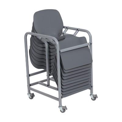 ECR4Kids Surf Storage Rack Classroom Set - 10 Lap Desks with Mobile Cart