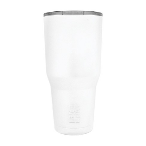 Big Frig 30 Ounce Hot Cold Stainless Steel BPA Free Tumbler with Lid, White - image 1 of 2