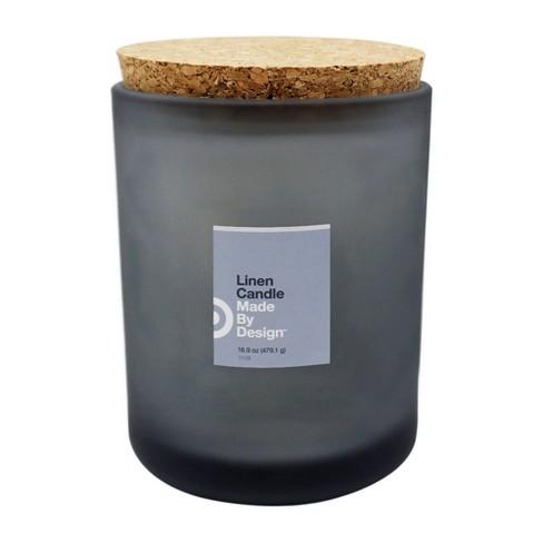 16.9oz Lidded Frosted Jar Linen - Made By Design™ - image 1 of 2