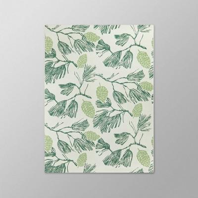 5' x 7' Pinecone Outdoor Rug Green - Threshold™