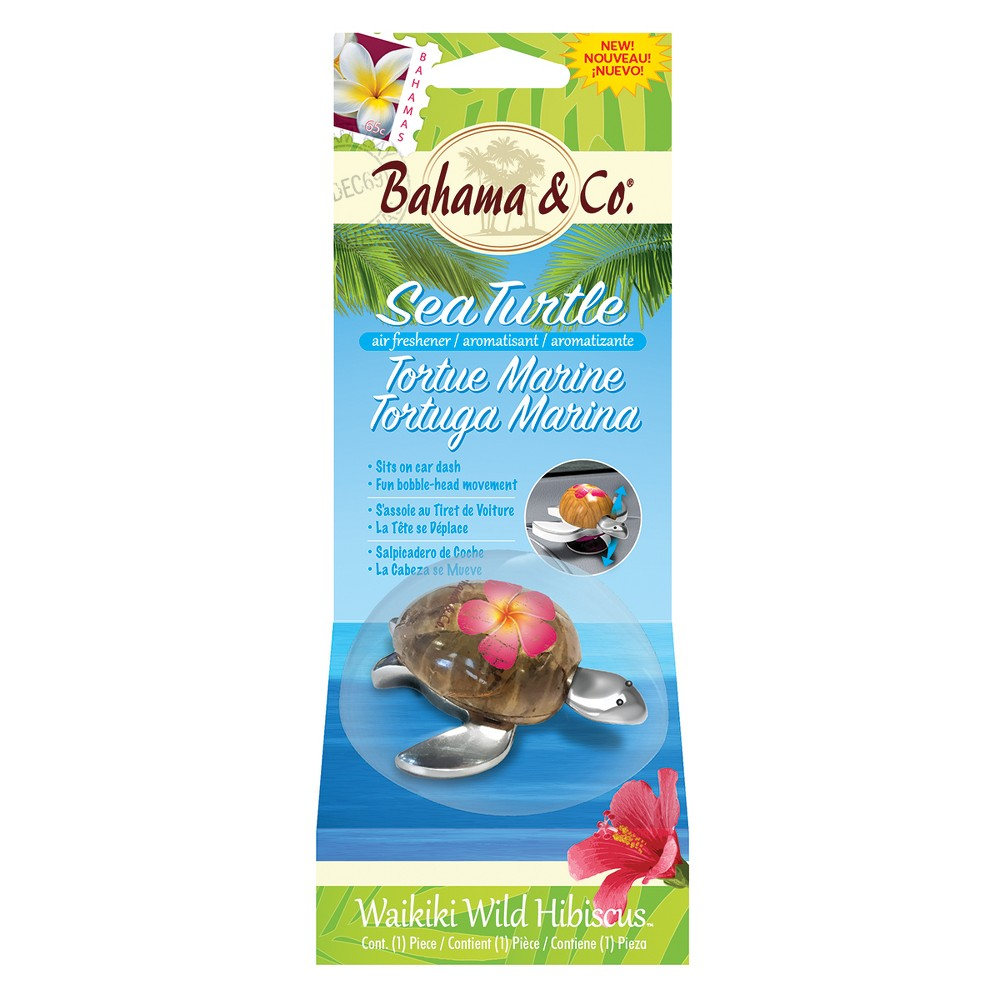 Bahama & Co. Wild Hibiscus Scented Sea Turtle, Green