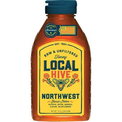 Local Hive Northwest Raw & Unfiltered Honey -12oz