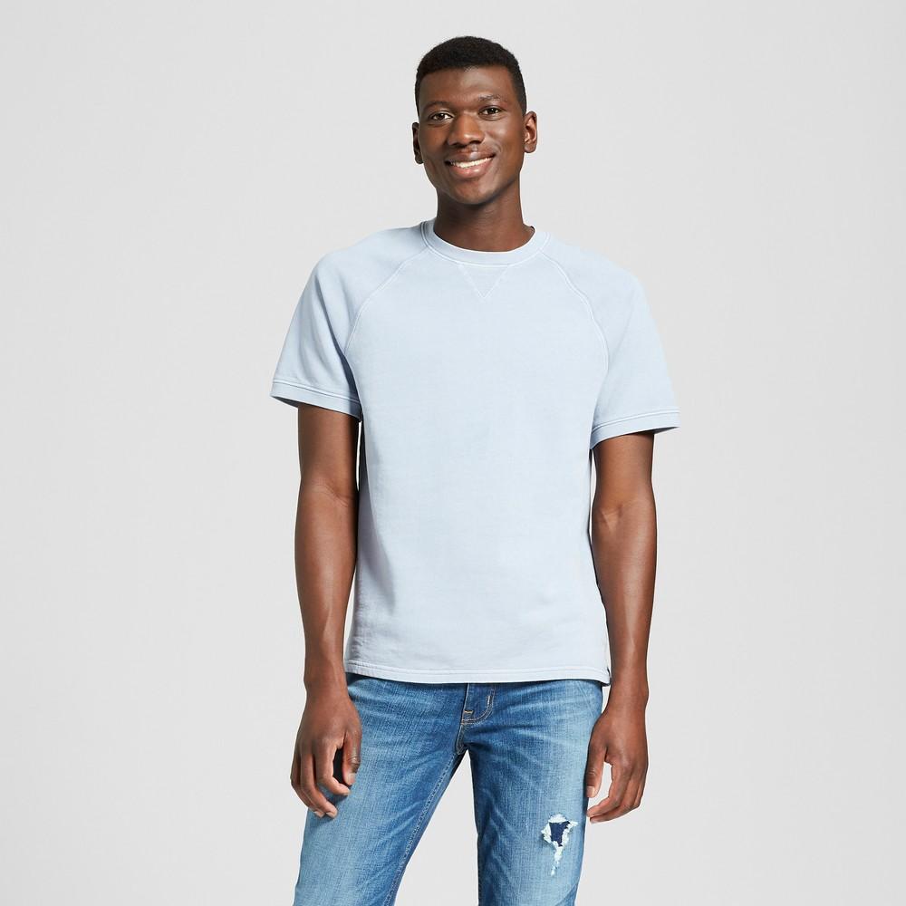Men's Standard Fit Short Sleeve French Terry T-Shirt - Goodfellow & Co Misty Blue XL
