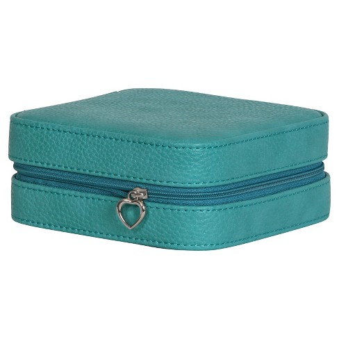 Mele & Co. Josette Women's Travel Jewelry Case in Faux Leather-Turquoise - image 1 of 6