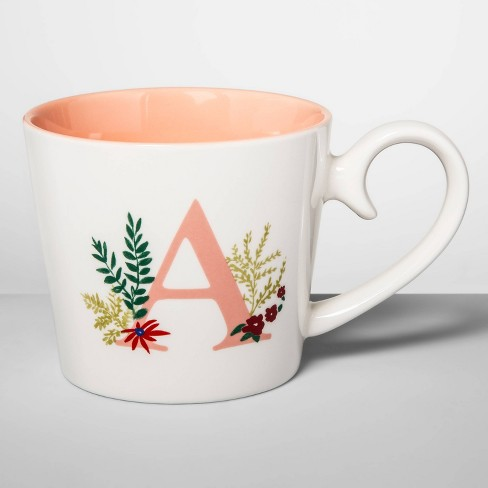 16oz Stoneware Monogram Mug - Opalhouse™ - image 1 of 1
