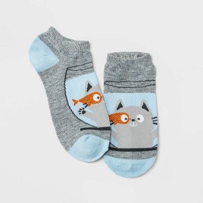 Women's Sparkly Catfish Bowl Low Cut Socks - Xhilaration™ Heather Gray 4-10