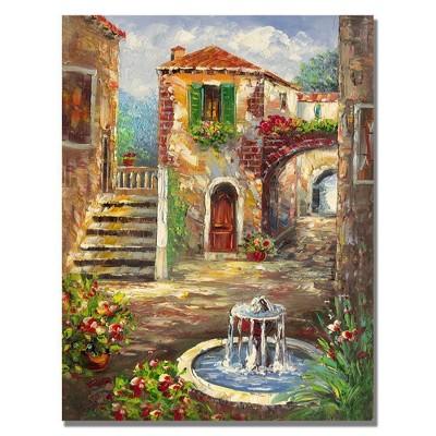 "35"" x 47"" Tuscan Cottage by Rio - Trademark Fine Art"