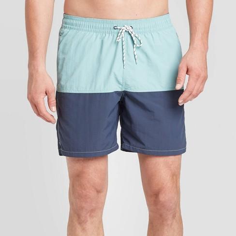"Men's 7"" Double Panel Swim Trunks - Goodfellow & Co™ Green - image 1 of 3"