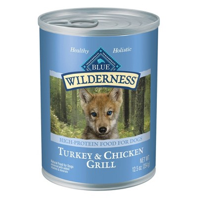 Blue Buffalo Wilderness High Protien Grain free Wet Dog Food - 12.5oz