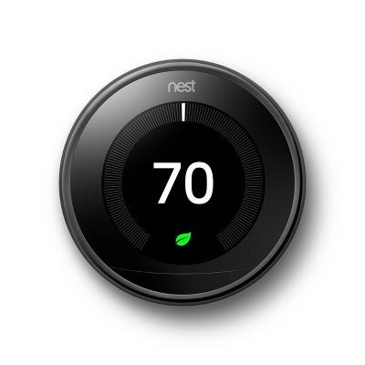 Google Nest Learning Thermostat - Mirror Black