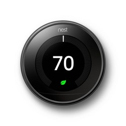 Google Nest Learning Thermostat - Mirror Black