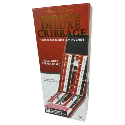 Game Gallery Solid Wood Deluxe Cribbage