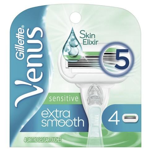 Venus Extra Smooth Sensitive Women's Razor Blade Refills - 4ct - image 1 of 4
