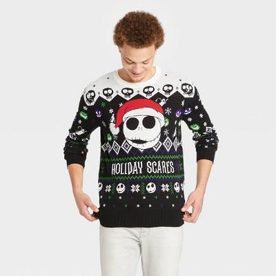 Men's Disney NBC Holiday Scares Pullover Sweater - Black