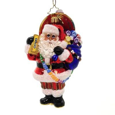 "Christopher Radko 5.0"" Santa Has A Sweet Tooth Tootsie Roll  -  Tree Ornaments"