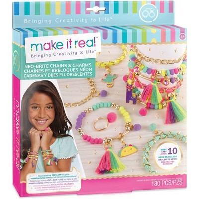 Make It Real Neo-Brite Chains & Charms Craft Activity Kit