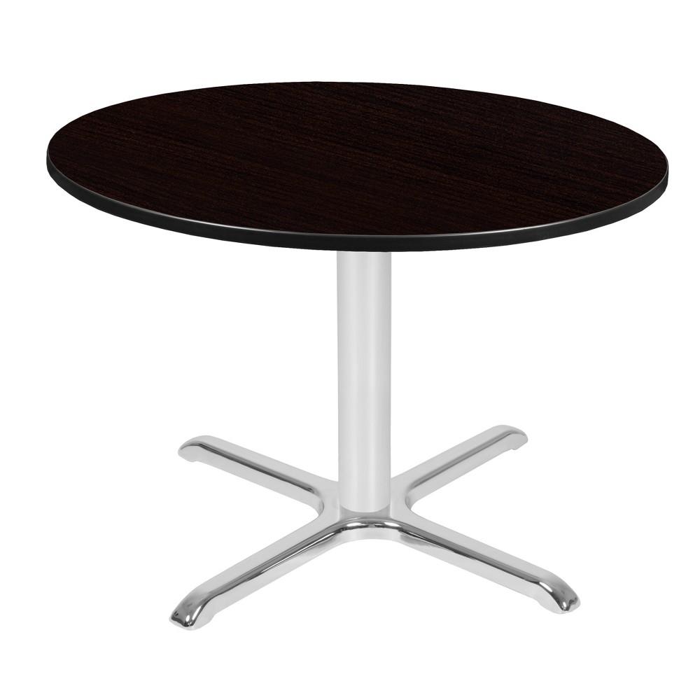 48 Via Round X - Base Table Espresso/Chrome (Brown/Grey) - Regency