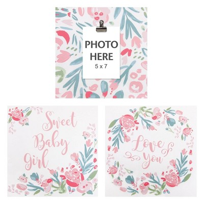 3pc Painterly Floral Canvas Wall Art Set - Trend Lab