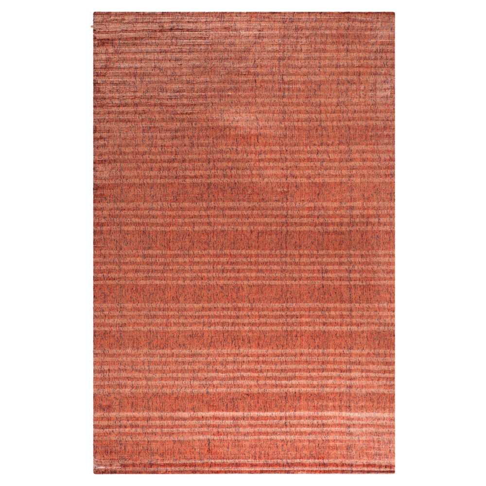 Rust (Red) Solid Knotted Area Rug - (9'X12') - Safavieh