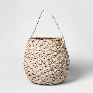 "Medium Round Basket White Washed 12.75""x14.25"" - Threshold™"