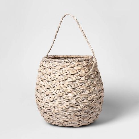 """Medium Round Basket White Washed 12.75""""x14.25"""" - Threshold™ - image 1 of 2"""